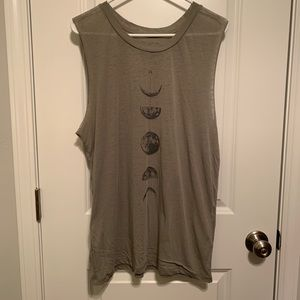 Fifth Sun sage green graphic tee, size 2XL